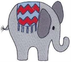 Little Elephant embroidery design