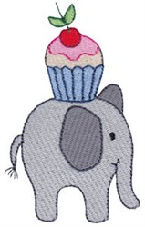 Little Elephant & Cupcake embroidery design