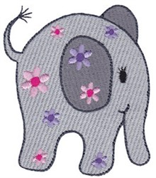 Little Floral Elephant embroidery design