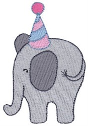 Birthday Elephant embroidery design