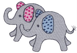 Little Elephant Friends embroidery design