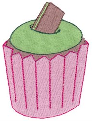 Chocolate Cupcake embroidery design