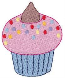 Cupcake With Sprinkles embroidery design