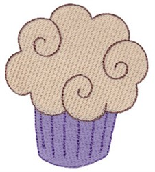 Swirly Cupcake embroidery design