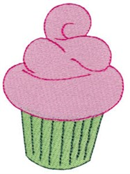 Cupcake With Icing embroidery design