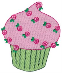 Cupcake & Roses embroidery design