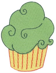 Green Cupcakes embroidery design