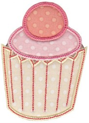 Pink Cupcake Applique embroidery design