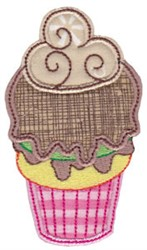Cupcake & Ice Cream Applique embroidery design