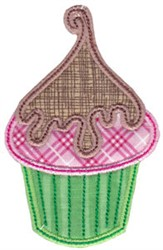Cupcake Applique embroidery design