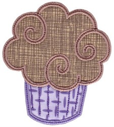 Chocolate Cupcake Applique embroidery design