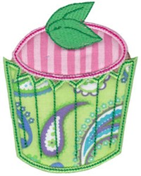 Mint Cupcake Applique embroidery design