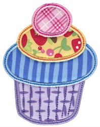 Colorful Cupcake Applique embroidery design