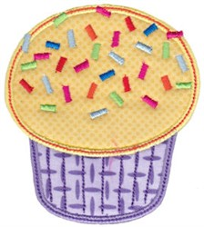 Sprinkled Cupcake Applique embroidery design