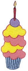 Birthday Cupcake Applique embroidery design