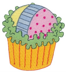 Neapolitan Cupcake embroidery design