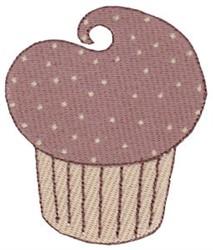 Tiny Chocolate Cupcake embroidery design