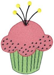 Tiny Pink Cupcake embroidery design