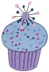 Blue Cupcake embroidery design