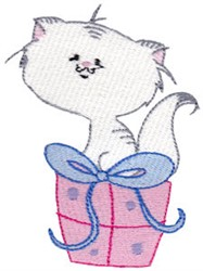 Cuddle Me Kitten embroidery design