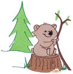 Cuddle Me Forest Bear embroidery design
