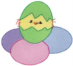 Cuddle Me Hatching Chick embroidery design