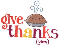 Give Thanks (Yum) embroidery design