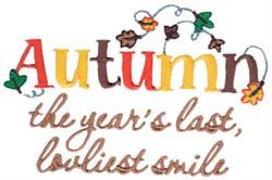 Autumn Smiles embroidery design