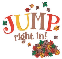 Jump Right In! embroidery design