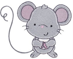 Nursery Room Mouse embroidery design