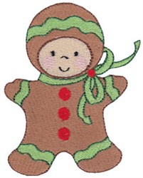 Gingerbread Baby embroidery design