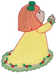 Christmas Praying Girl embroidery design