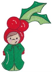Christmas Holly Baby embroidery design