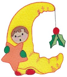 Christmas Moon Costume embroidery design