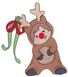 Christmas Reindeer Costume embroidery design