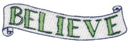 Believe Banner embroidery design
