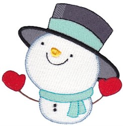 Snow Business Snowman embroidery design