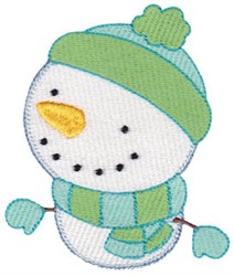 Bundled Up Snowman embroidery design