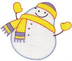 Rolly Polly Snowman embroidery design