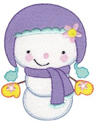 Cutie Pie Snowman embroidery design