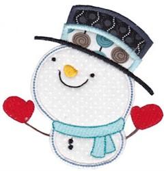 Adorable Snowman Applique embroidery design