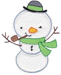 Happy Snowman Applique embroidery design