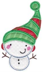 Tiny Snowman Applique embroidery design