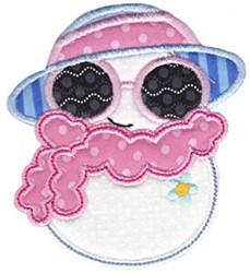 Fashionista Snow Girl Applique embroidery design