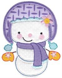 Cute Snowman Applique embroidery design