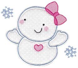 Baby Snow Girl Applique embroidery design