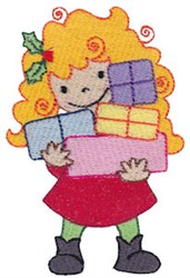 Christmas Pixie With Gifts embroidery design