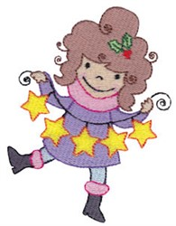 Christmas Pixie & Stars embroidery design
