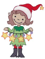 Christmas Pixie embroidery design