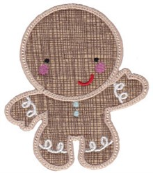 Sweet Ginger Applique embroidery design